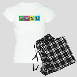 Flutterby Pop Art Strip Women's Light Pajamas