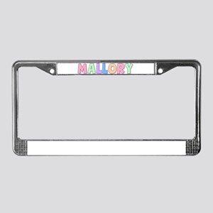 Mallory Rainbow Pastel License Plate Frame