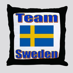 Team Sweden Throw Pillow