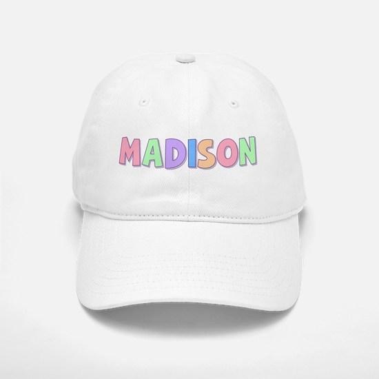 Madison Rainbow Pastel Baseball Baseball Cap
