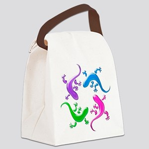 4 Geckos 4 Canvas Lunch Bag