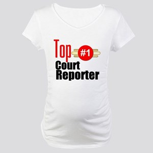 Top Court Reporter Maternity T-Shirt