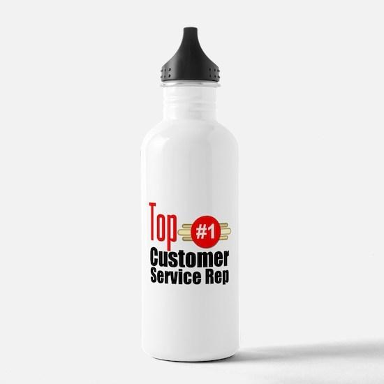 Top Customer Service Rep Water Bottle