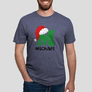 Christmas Santa Hat M Monog Mens Tri-blend T-Shirt