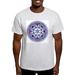 Ash Grey T-Shirt Saturn Yantra Large