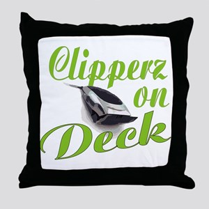 CLIPPERZ ON DECK Throw Pillow
