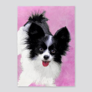 Papillon (White and Black) 5'x7'Area Rug