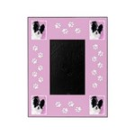 Papillon (White and Black) Picture Frame