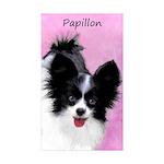 Papillon (White and Blac Sticker (Rectangle 10 pk)