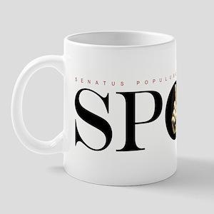 SPQR Black Mug
