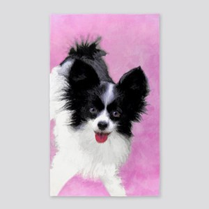 Papillon (White and Black) Area Rug