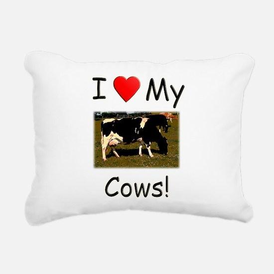 Love My Cows Rectangular Canvas Pillow