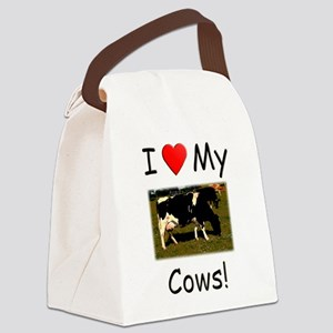 Love My Cows Canvas Lunch Bag
