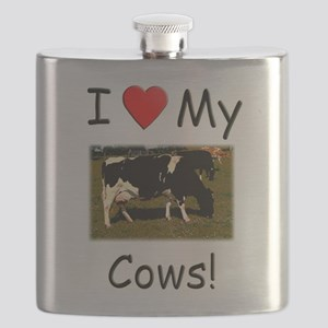 Love My Cows Flask
