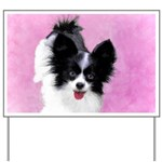 Papillon (White and Black) Yard Sign