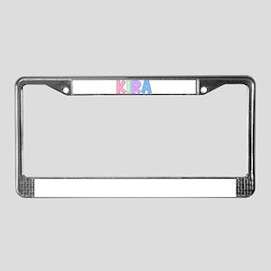 Kira Rainbow Pastel License Plate Frame