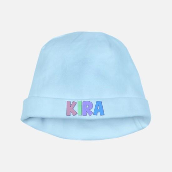 Kira Rainbow Pastel baby hat