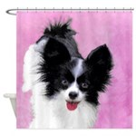 Papillon (White and Black) Shower Curtain