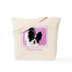 Papillon (White and Black) Tote Bag