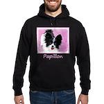 Papillon (White and Black) Hoodie (dark)