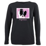 Papillon (White and Blac Plus Size Long Sleeve Tee