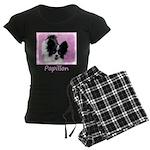 Papillon (White and Black) Women's Dark Pajamas