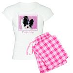 Papillon (White and Black) Women's Light Pajamas