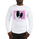 Papillon (White and Black) Long Sleeve T-Shirt