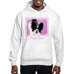 Papillon (White and Black) Hooded Sweatshirt