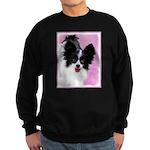 Papillon (White and Black) Sweatshirt (dark)