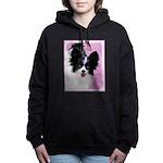 Papillon (White and Blac Women's Hooded Sweatshirt