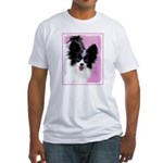 Papillon (White and Black) Fitted T-Shirt