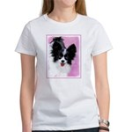 Papillon (White and Women's Classic White T-Shirt