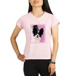Papillon (White and Black) Performance Dry T-Shirt