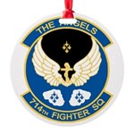 Angels Emblem Round Ornament