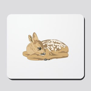 Fawn (Baby Deer) Mousepad