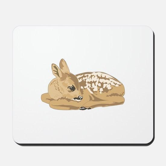 Fawn (Baby Deer) Mousepad
