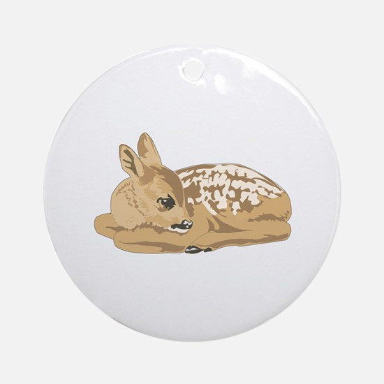 Fawn (Baby Deer) Ornament (Round)