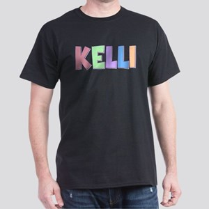 Kelli Rainbow Pastel Dark T-Shirt