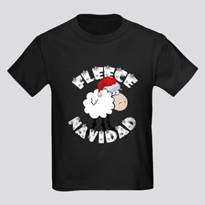 Fleece Navidad Kids Dark T-Shirt