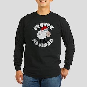 Fleece Navidad Long Sleeve Dark T-Shirt