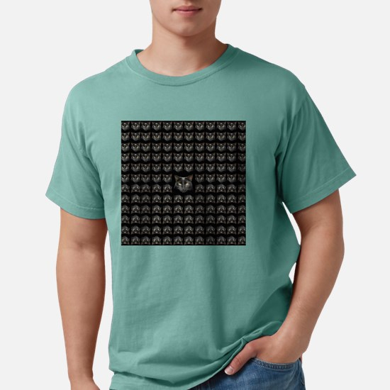 Black Cat pattern Mens Comfort Colors Shirt