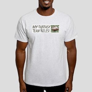 Fantasy Football Rules Ash Grey T-Shirt