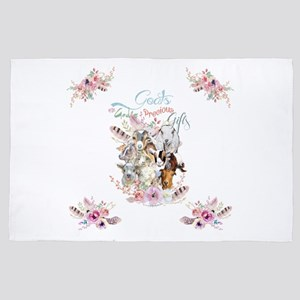 Goats are God's Precious Gifts 4' x 6' Rug
