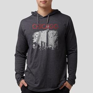 Chicago Skyline Mens Hooded Shirt