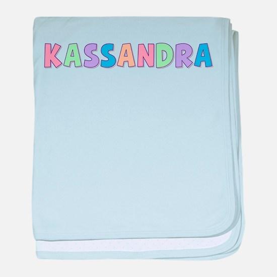 Kassandra Rainbow Pastel baby blanket