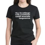 The Beatings Will Continue, Morale Women's Dark T-