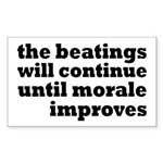 The Beatings Will Continue, Morale Sticker (Rectan