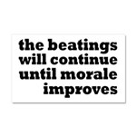 The Beatings Will Continue, Morale Car Magnet 20 x