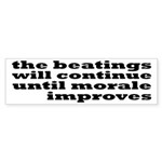 The Beatings Will Continue, Morale Sticker (Bumper